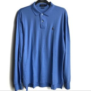 Polo by Ralph Lauren Long Sleeved Blue Polo Shirt